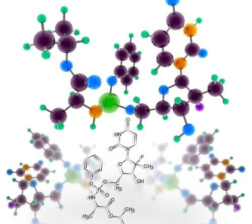 Estructura molecular Sofosbuvir